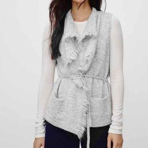 Wilfred Free Light Gray Fei Fei Fringe Wool Vest